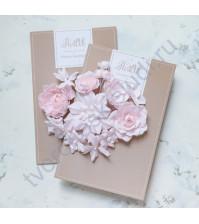 Цветы ручной работы из ткани Базовый микс, розовый