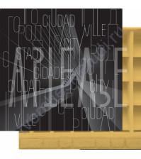 Бумага для скрапбукинга двусторонняя, коллекция GOрод GOворит, 30.5х30.5 см плотность 190г/м, лист Город говорит