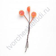 Букетик декоративный Апельсин половинками, 3 шт