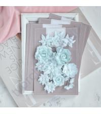 Цветы ручной работы из ткани Базовый микс, мятный