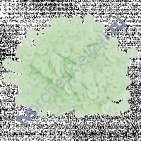Пайетки плоские круглые с глянцевым эффектом 6 мм, 10 гр, цвет мятный