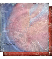 Бумага для скрапбукинга двусторонняя, коллекция Автопарк, лист 004