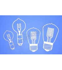 Чипборд Набор Лампы, 4 элемента