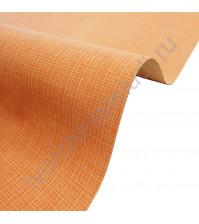 Кожзам переплетный с тиснением под холст на полиуретановой основе плотность 230 гр/м2, 50х70 см, цвет F334-оранжевый