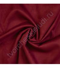 Искусственная замша Suede, плотность 230 г/м2, размер 50х70см (+/- 2см), цвет вишневый