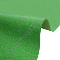 Кожзам переплетный с тиснением под холст на полиуретановой основе плотность 230 гр/м2, 50х35 см, цвет F349-зеленый