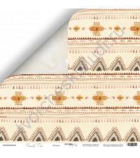 Бумага для скрапбукинга двусторонняя, коллекция Family Tree, 30.5х30.5 см, 190 гр\м2, лист Этника