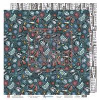 Бумага для скрапбукинга двусторонняя, 30.5х30.5 см, плотность 190 гр/м2, коллекция Все будет хорошо!, лист Медицинский осмотр
