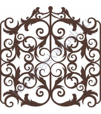 Вырубка из фетра Викторианские ворота, 15х15 см