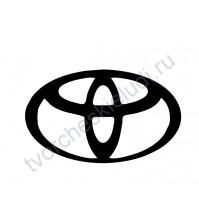 Декор из термотрансферной пленки Toyota, 7х4.2 см, цвет в ассортименте