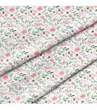 Ткань для рукоделия Мини розы, 100% хлопок, плотность 150 гр/м2, размер отреза 50х40 см
