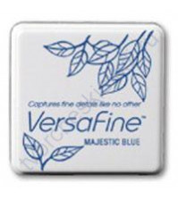 Подушечка чернильная пигментная на масляной основе Versafine, размер 33х33мм, цвет насыщенный синий