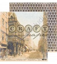Бумага для скрапбукинга двусторонняя коллекция Шерлок, 30.5х30.5 см, 190 гр/м, лист Узкие улочки