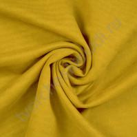 Искусственная замша Suede, плотность 230 г/м2, размер 50х35 см (+/- 2см), цвет горчичный