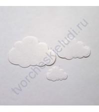 Набор вырубки из акварельной бумаги Облака, 3 шт