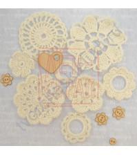 Набор вязанного декора Потешки, 8 элементов