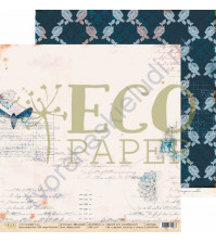 Бумага для скрапбукинга двусторонняя 30.5х30.5 см, 250 гр/м, коллекция Мемуары, лист Наброски