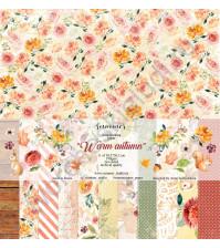 Набор двусторонней бумаги Warm autumn, 30.5х30.5 см, 190 гр/м, 11 листов