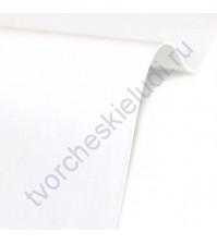 Кожзам переплетный на полиуретановой основе плотность 230 гр/м2, 50х70 см, цвет Bianco белый