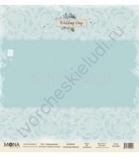 Бумага для скрапбукинга односторонняя Свадебная история, 30.5х30.5 см, 190 гр/м, лист Нежная вуаль