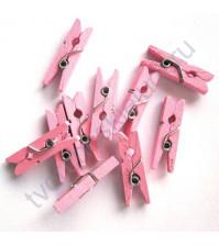 Прищепка деревянная Розовая, 25 мм, 1 шт.