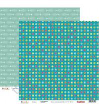 Бумага для скрапбукинга двусторонняя Басик, 30.5х30.5 см 190гр/м, лист Рыбалка