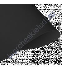 Кожзам переплетный на полиуретановой основе плотность 230 гр/м2, 50х70 см, цвет black-черный