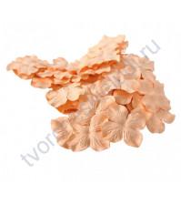 Лепестки гортензии большие 5 см, 10 шт, цвет персиковый