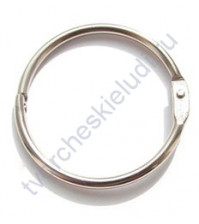 Кольца для альбомов, 2 шт., цвет серебро, 19 мм