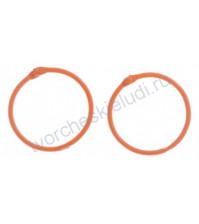 Кольца для альбомов, 2 шт, цвет оранжевый, 45 мм