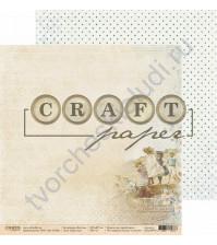 Бумага для скрапбукинга двусторонняя коллекция Детство, 30.5х30.5 см, 190 гр/м, лист Прогулка