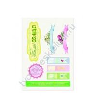 Тканевые стикеры Цветочная вышивка 1, 14х20 см