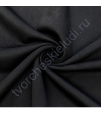 Искусственная замша Suede, плотность 230 г/м2, размер 50х70см (+/- 2см), цвет черный