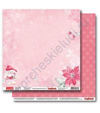 Бумага для скрапбукинга двусторонняя, коллекция Зимняя ягодка, 30.5х30.5 см 190 гр/м, лист Подарок для тебя