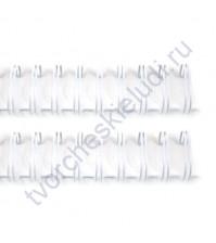 Пружинка для брошюровки, диам. 22 мм (7/8 дюйма), цвет белый