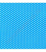 Ткань для рукоделия 50х110 см, 100% хлопок, цвет голубой в белый горох