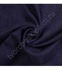 Искусственная замша Suede, плотность 230 г/м2, размер 35х50см (+/- 2см), цвет темный синий