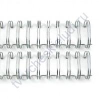 Пружинка для брошюровки, диам. 22 мм (7/8 дюйма), цвет серебро