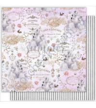 Бумага для скрапбукинга двусторонняя 30.5х30.5 см, 190 гр/м, коллекция Tender sentiment, лист Ballet