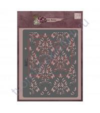 Трафарет многоразовый пластиковый Дамаск, коллекция die Villa, толщина 0.5 мм, 15х17 см