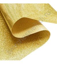Термотрансферная пленка глиттер, цвет золото, 25х25 см (+/- 2 см)