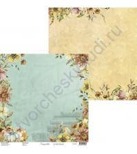 Бумага для скрапбукинга двусторонняя, 30.5х30.5 см, плотность 250 гр/м2, коллекция Lovely autumn, Лист 1