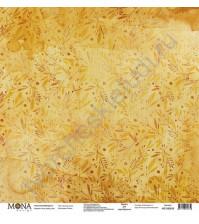 Бумага для скрапбукинга односторонняя Осень, 30.5х30.5 см, 190 гр/м, лист Золотая осень