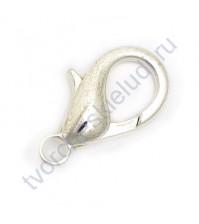 Карабин, 5 шт., 10 мм, цвет серебро