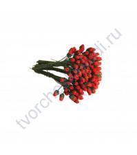 Бутоны роз маленькие 5 шт, цвет красный