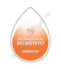 Подушечка чернильная водорастворимая капля Memento, 32х50 мм, цвет марокканский оранжевый