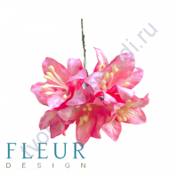 Цветы Лилии розовые, размер цветка 3.75 см, 5 шт