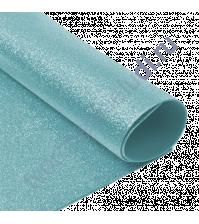 Фоамиран с глиттером, 2 мм, формат А4, цвет голубой блеск
