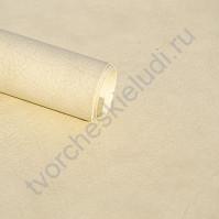 Кожзам переплетный с тиснением под мятую кожу Мантуя, плотность 255 гр/м2, 70х33 см, цвет бежевый