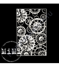 Чипборд Набор Винтажные часы, коллекция Фоны, 10х15 см